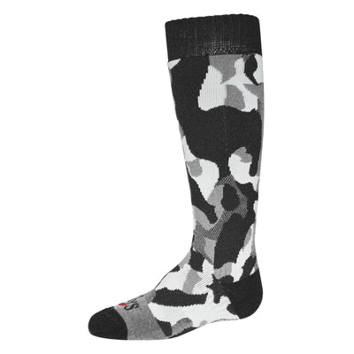Youth Textured Camo Mid Volume Sock - Hot Chillys