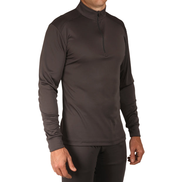 Men's Peach Skins Solid Zip-T - Hot Chillys