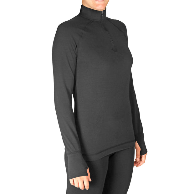 Women's MTF4000 Solid Zip-T - Hot Chillys