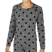 Youth Heather Dots Scoopneck Top - Hot Chillys