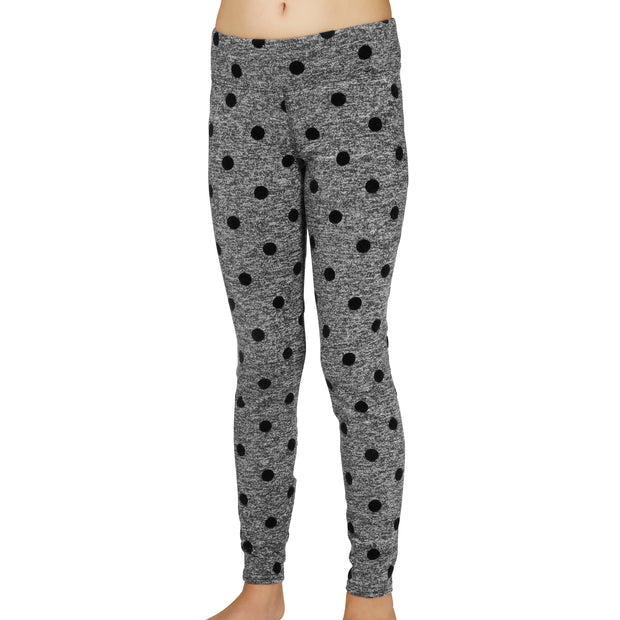 Youth Heather Dots Legging - Hot Chillys