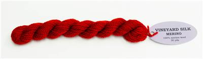 Holiday Merino Wool #M-1007 Thread Medium Red for Needlepoint from Wiltex