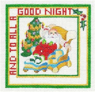 "Ornament~""To All a Good Night"" HP Needlepoint Canvas series"