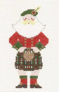 Canvas~Scottish Gentleman Santa handpainted Needlepoint Canvas Ornament by Petei ~ Pony