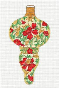 Ornament~Tall Jeweled Flowers Ornament handpainted Needlepoint Canvas Alexa Design