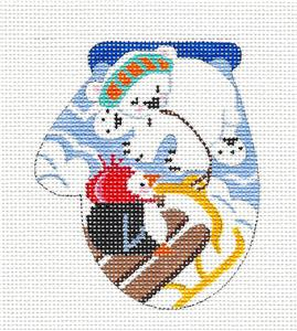 "Mini Mitt Club~ ""Sledding Friends"" Mitten Club HP Needlepoint Canvas & SG KAMALA JulieMar***SPECIAL ORDER***"