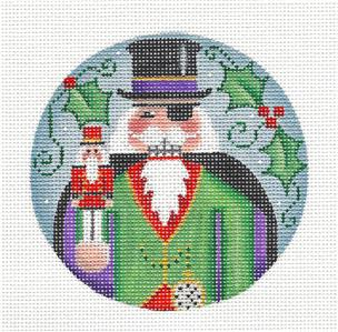 Round ~ Nutcracker HERR DROSSELMEYER handpainted Needlepoint Canvas by Rebecca Wood~MAY NEED TO BE SPECIAL ORDERED