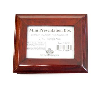 Accessories-MINI PRESENTATION BOX Cherry Finish for Needlepoint, Cross Stitch Sudberry House