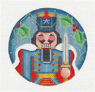 Round ~ Nutcracker THE PRINCE Regal handpainted Needlepoint Canvas by Rebecca Wood~MAY NEED TO BE SPECIAL ORDERED