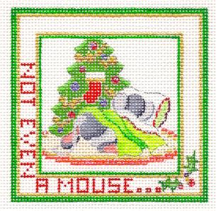 "Ornament~""Not Even A Mouse"" HP Needlepoint Canvas series"