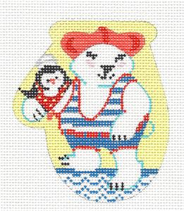 Mini Mitt Club~Polar Plunge Bear Mitten Club HP Needlepoint Canvas & SG KAMALA JulieMar