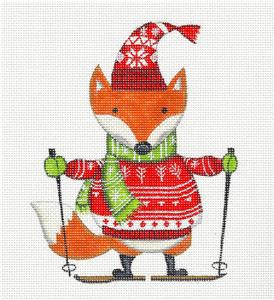 "Canvas~ ""Nordic Fox"" handpainted Needlepoint Ornament Canvas by L. Siebert ~ Pony"