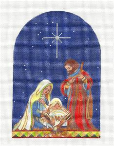 Canvas~The HOLY FAMILY handpainted Needlepoint Canvas by J. Stever from Juliemar***SPECIAL ORDER***