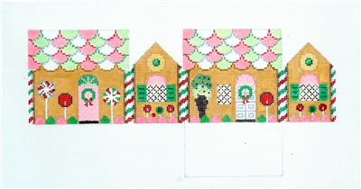 3D NECCO WAFERS Candy Gingerbread House 3-D Needlepoint Ornament by Susan Roberts