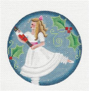 Round ~ Nutcracker Elegant CLARA Regal handpainted Needlepoint Canvas by Rebecca Wood~MAY NEED TO BE SPECIAL ORDERED