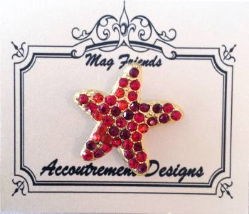 Magnet~Starfish Magnet Needle Holder for Needlepoint, Sewing ~ Accountrement Designs
