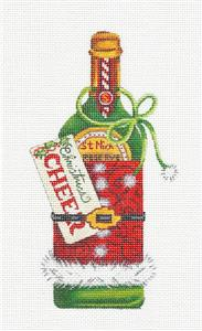 "Canvas~""Christmas Cheer"" handpainted Needlepoint Ornament Canvas D.Kater ~ Pony"
