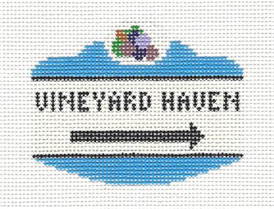 Canvas~ Martha's Vineyard ~ VINEYARD HAVEN, MA. SIGN Needlepoint Canvas by Silver Needle