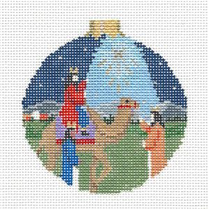 Christmas~Three Wise Men & Christmas Star Ornament handpaintd Needlepoint Canvas Susan Roberts