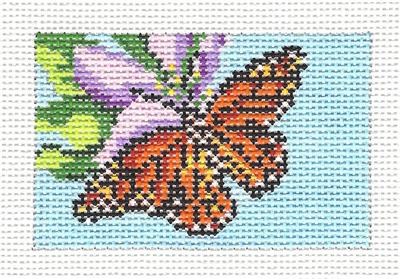 Canvas~MONARCH to fit Planet Earth ID TAG handpainted Needlepoint Canvas N.Crossings