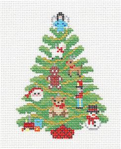 Christmas~Toys Christmas Tree handpainted Needlepoint Canvas Ornament~by Susan Roberts