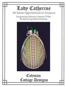 "Cottage Design ""Lady Catherine Easter Egg""Heirloom Ornament by Catherine Coleman"
