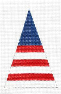 Patriotic Tree & STITCH GUIDE handpainted Needlepoint Canvas by Shear Creation