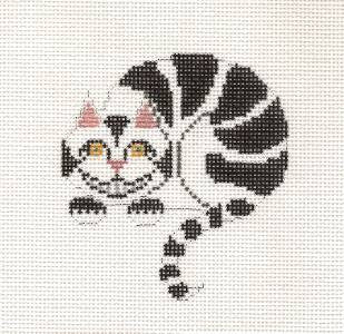 Canvas~Cheshire Cat handpainted Needlepoint Canvas by Petei from P. Pony