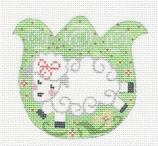 Tulip-Tulip with Lamb in the Meadow on Handpainted Needlepoint Canvas by Danji Designs