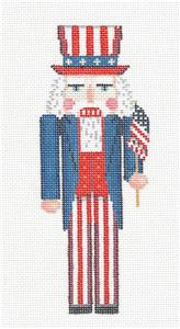 Nutcracker~ UNCLE SAM Ornament handpainted Needlepoint Canvas by Susan Roberts