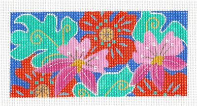 Insert~Hawaiian ALOHA handpainted Needlepoint Insert Canvas by Amanda Lawford *RETIRED*