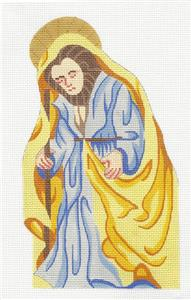 Canvas~Father Joseph Nativity handpainted Needlepoint Canvas by Silver Needle
