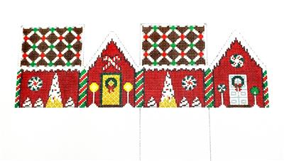 3D  CHOCOLATE TRELLIS RED VELVET House Needlepoint Ornament by Susan Roberts**MAY NEED TO BE SPECIAL ORDERED**