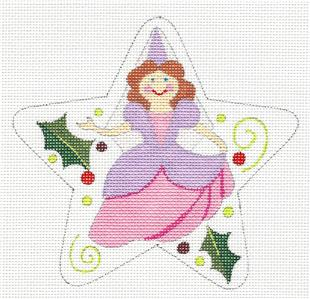 "Star~ 12 Days ""9 LADIES DANCING"" Star HP Needlepoint Canvas by Raymond Crawford"