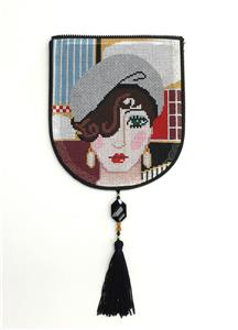 "Bag Flap ~ *FLAP ONLY* FIONA Evening Bag ""Style A"" handpainted Needlepoint Canvas by Sophia"