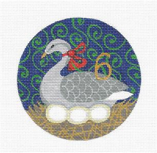 12 Days of Christmas 6 Geese with STITCH GUIDE & HP Needlepoint canvas Juliemar