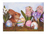3D  Spring Bunny 3-D EGG handpainted Needlepoint Ornament by Susan Roberts