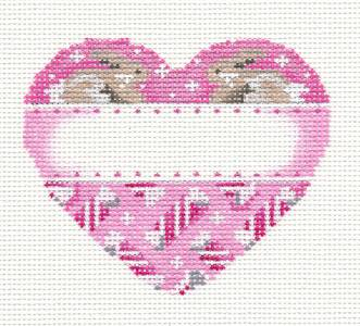 Heart~Baby Girls Customize Pink Heart handpainted Needlepoint Ornament Assoc. Talents
