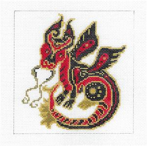 Canvas- Chinese Zodiac DRAGON Needlepoint Canvas by BP Designs ~ Danji