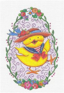 Canvas~Spring Parade Chick HP Needlepoint Canvas & STITCH GUIDE by M.Engelbreit