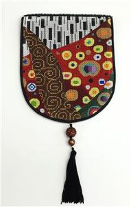 "Bag Flap ~*FLAP ONLY* RHAPSODY Evening Purse "" Style A"" handpainted Needlepoint Canvas by Sophia"