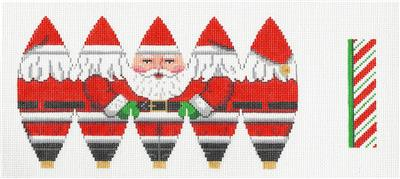 3D Full Santa Hot Air Balloon HP Needlepoint Canvas by Susan Roberts