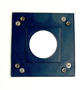 "Accessory~LEE Navy Blue Square Leather Snap Tray for Needlepoint Canvas 3"" Round Canvas"