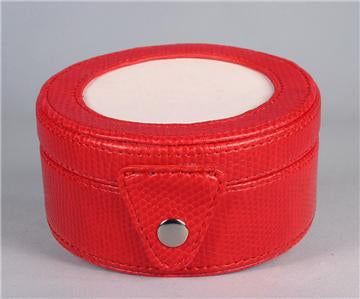 Accessory~LEE Red Textured Leather Gift Box Snap Case for handpainted Needlepoint Canvas