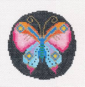 Treglown Designs Cloisonne Butterfly handpainted Needlepoint Canvas Ornament