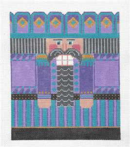 Canvas-Purple Nutcracker LG. handpainted Needlepoint Canvas by CH Designs ~ Danji