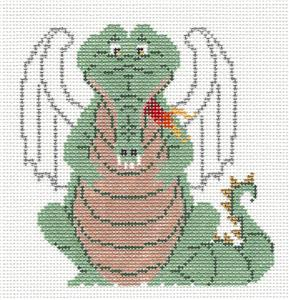 Canvas~ Winged Dragon handpainted Needlepoint Canvas by Petei from P. Pony