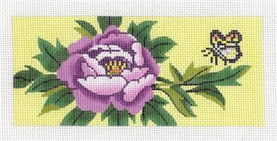 Canvas Insert~ LEE Peony Blossom & Butterfly handpainted Needlepoint Canvas ~ *RETIRED* ~ BB