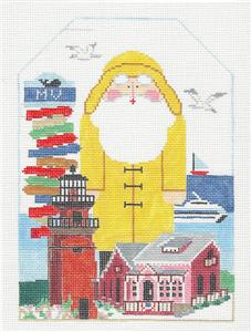 Canvas~MARTHA'S VINEYARD SANTA Needlepoint Canvas & Stitch Guide ~ Kathy Schenkel