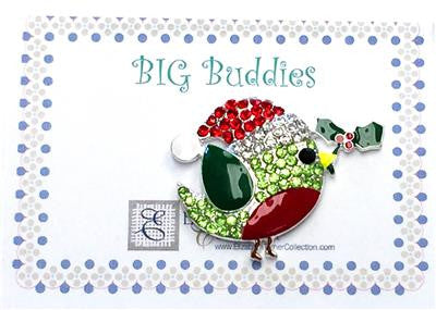 Magnet~ BIG NEEDLE BUDDIES ~ Birdie in Santa Hat ~ Needle Holder for Needlepoint